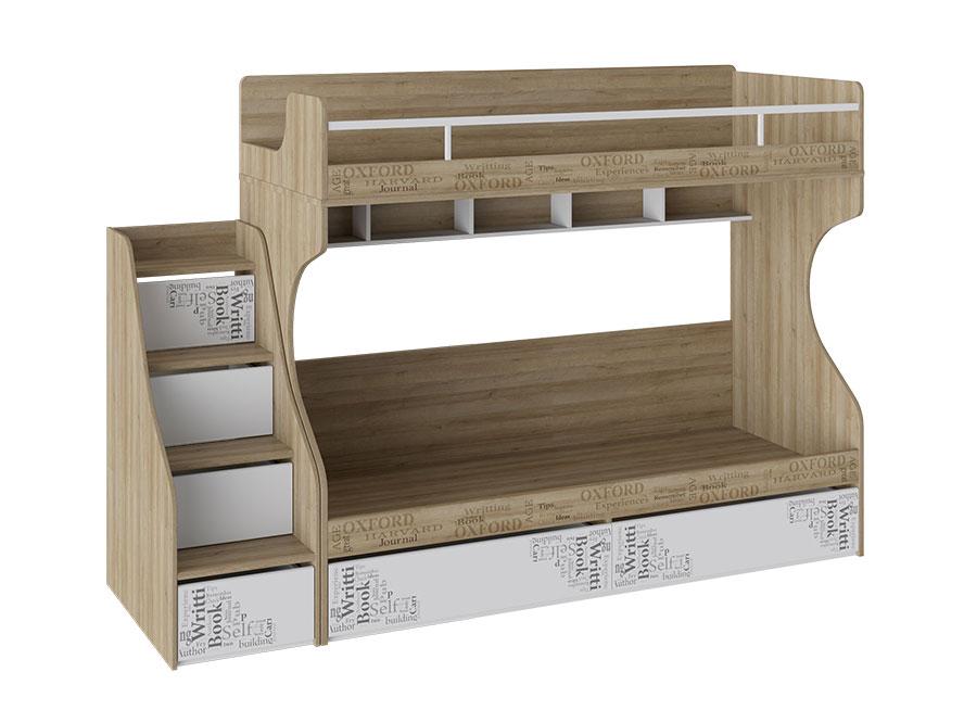 Двухъярусная кровать с приставной лестницей 179-115161