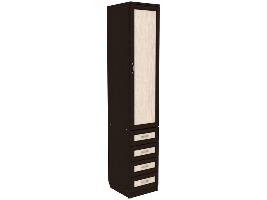 Узкий шкаф для белья с ящиками 108-70253