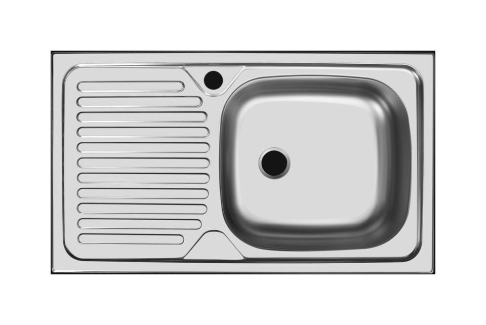 Прямоугольная врезная мойка с длинным крылом 108-74187