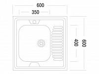 Накладная мойка 500-92411