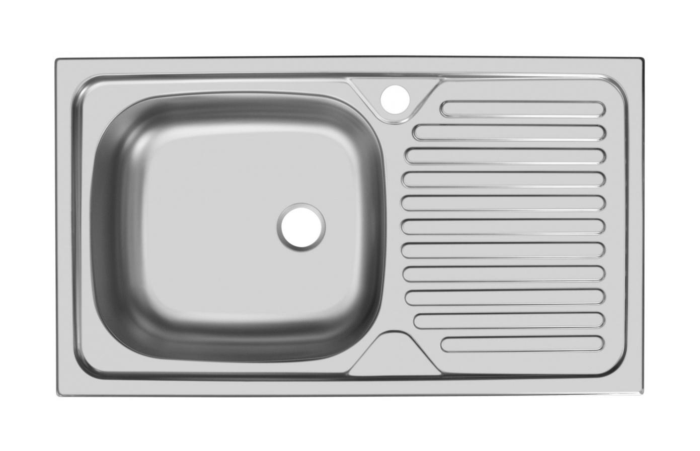 Прямоугольная врезная мойка с длинным крылом 108-74188