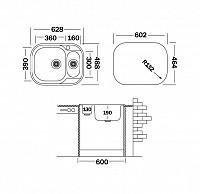 Прямоугольная врезная мойка 500-74212