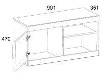 Тумба под ТВ 500-96190