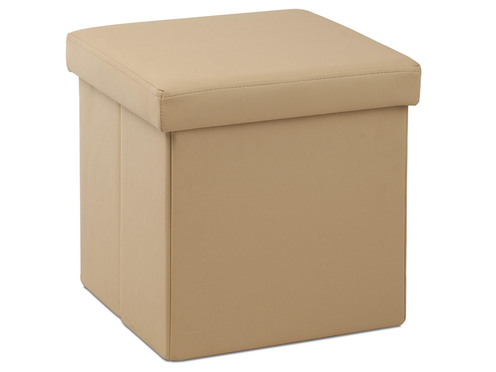 Кожаный пуф квадратный 142-21360