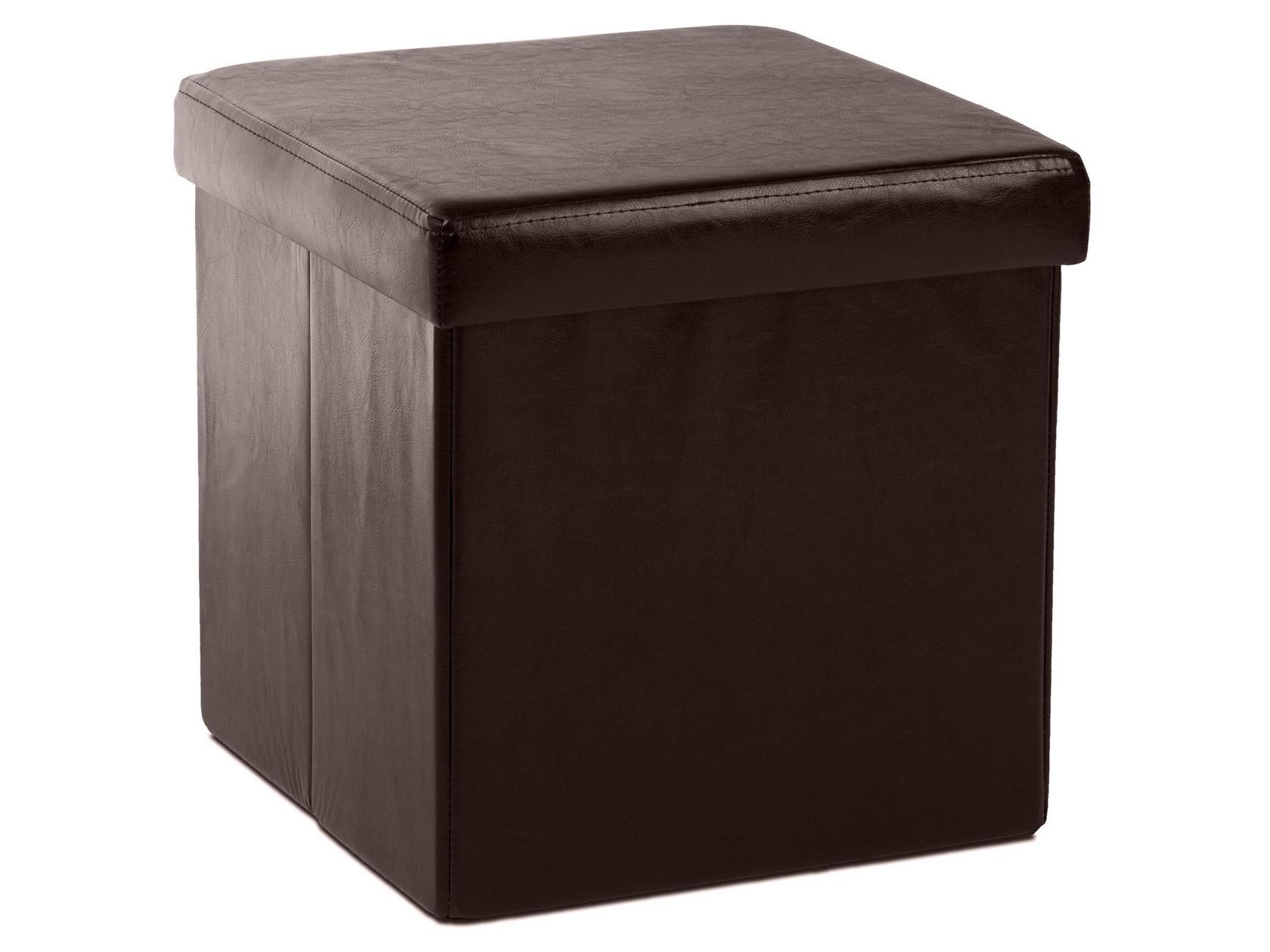 Кожаный пуф квадратный 151-21359