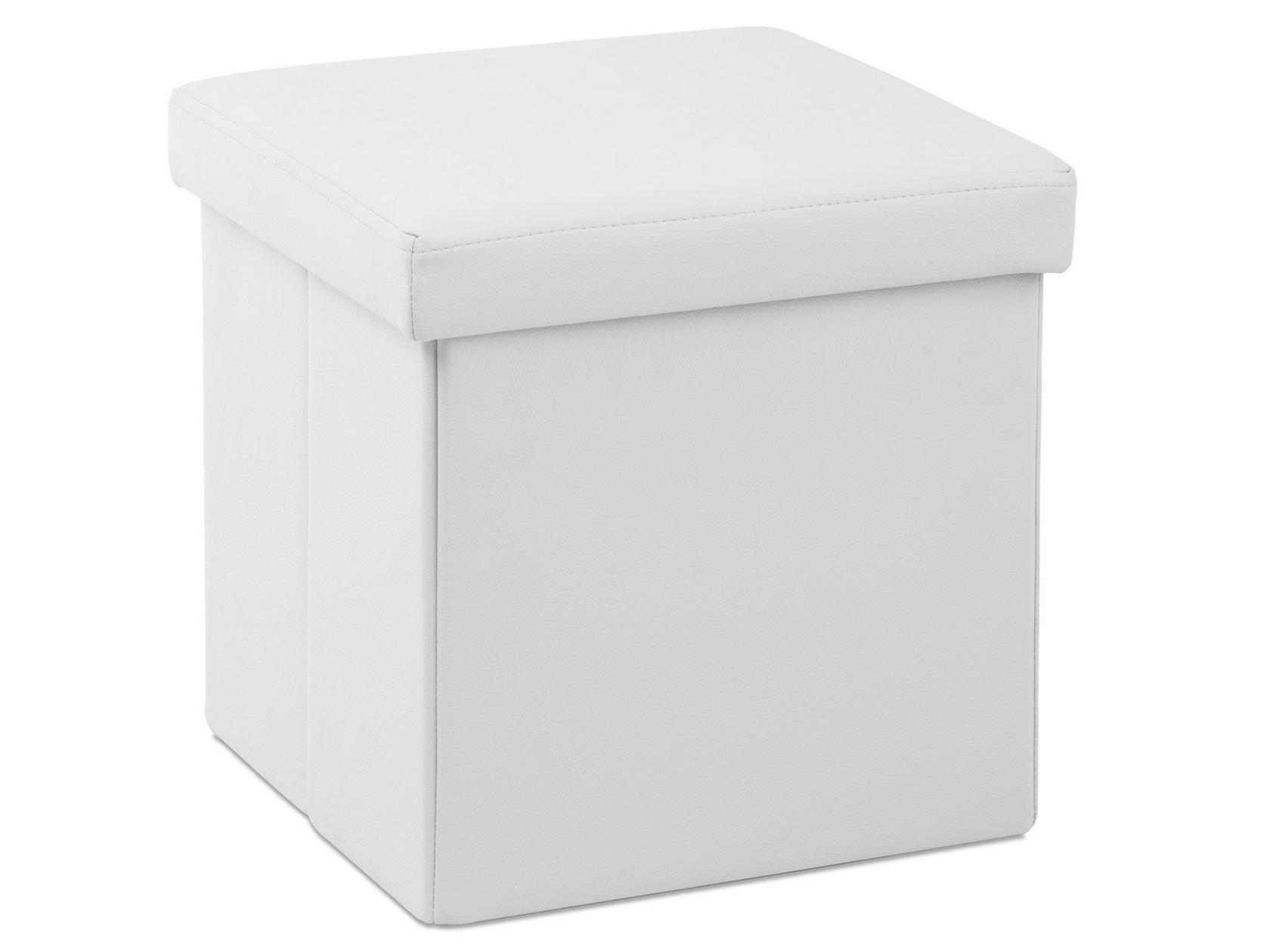 Кожаный пуф квадратный 129-37443