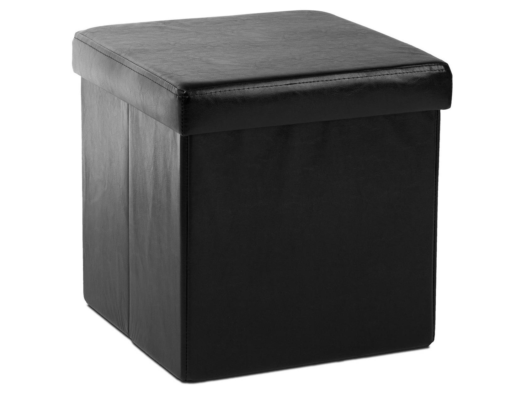 Кожаный пуф квадратный 178-21358