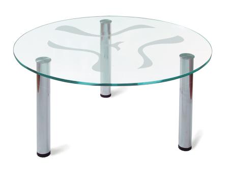 Круглый журнальный столик стеклянный 135-1465